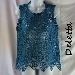 Anthropologie Deletta Crochet Blouse Size XS